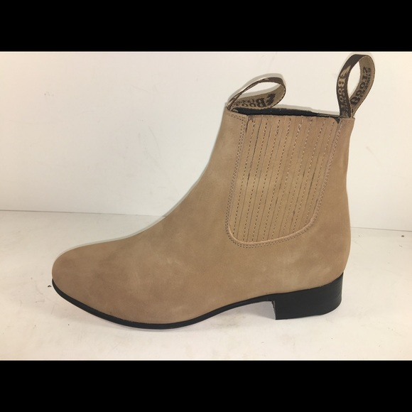 d7921be0302 Men's half boot Nubuck Suede Botin Charro Boutique